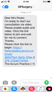 Example image of a text from ACCURX.